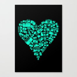 Boombox Heart Canvas Print