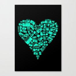 Boombox Heart Canvas Print