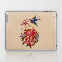 Old school True Love Lock and Key tattoo Laptop & iPad Skin