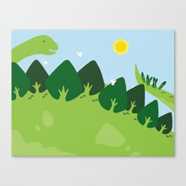the forest on back Canvas Print