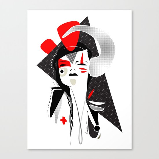 This head I hold 2 - Emilie Record Canvas Print