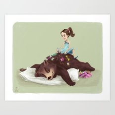 While Napping Art Print