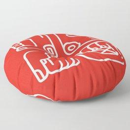 Mayan Glyphs ~ Hands Floor Pillow