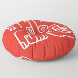 Mayan Glyphs ~ Hands Floor Pillow