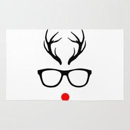 Glasses Christmas Rug