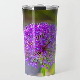 Purple + Blue Flower Travel Mug