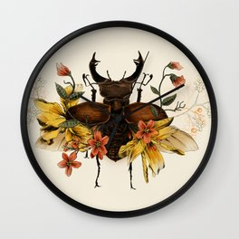 Blooming Beetle Wall Clock