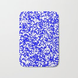 Small Spots - White and Blue Bath Mat