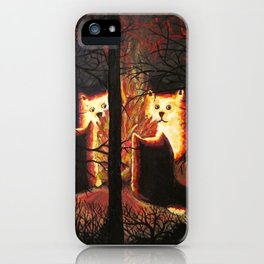 Cats shining through the trees iPhone Case