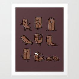 Chocolate Yoga Art Print