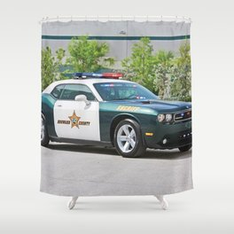 Broward Country Florida Challenger Police Highway Patrol Shower Curtain