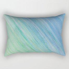 Greens and Blue Rectangular Pillow