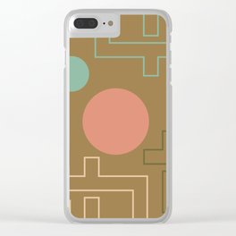 Setting Sun Rising Moon - Mid Century Modern Clear iPhone Case