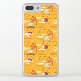 Skateboarders Holiday Pattern Clear iPhone Case