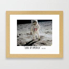 Look Up America Framed Art Print