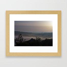 Foggy Summer Morning in France Framed Art Print