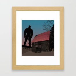 When Giants Roamed the Earth Framed Art Print
