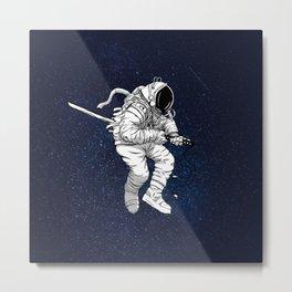 Space Samurai Metal Print