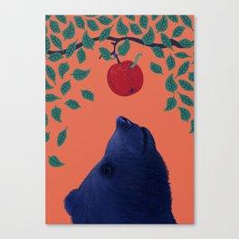 Hungry Autumn Bear Canvas Print