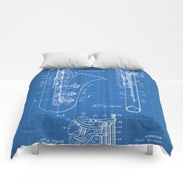 Selmer Saxophone Patent - Saxophone Art - Blueprint Comforters