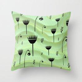 imaginary garden Throw Pillow