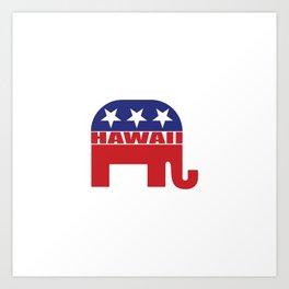 Hawaii Republican Elephant Art Print