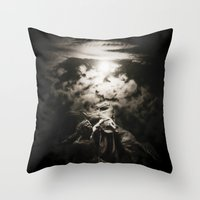 warrior Throw Pillows featuring Warrior by Armine Nersisian