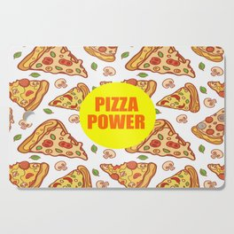 pizza power funny quote Cutting Board