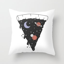 Slice Space Pizza Throw Pillow