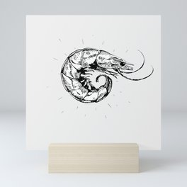 Vintage Shrimp Mini Art Print
