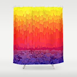 Fire Sun Splash Shower Curtain