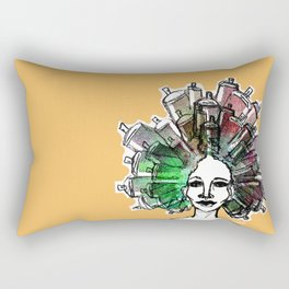 Paint the town Rectangular Pillow