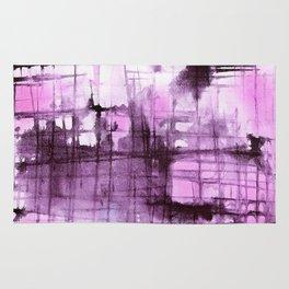 Purple Grid Rug