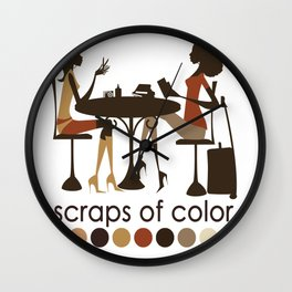 Scraps of Color Limited Edition T-shirt Wall Clock