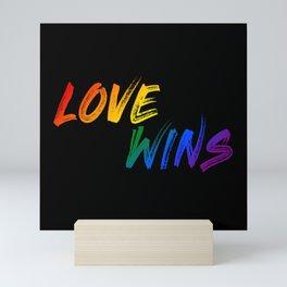 Love Wins Mini Art Print