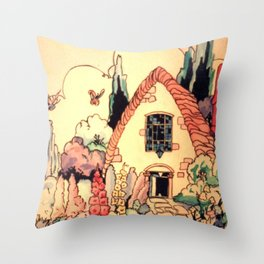 Fantasy Cottage Throw Pillow