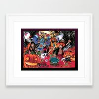 one piece Framed Art Prints featuring Halloween in One Piece by Borsalino