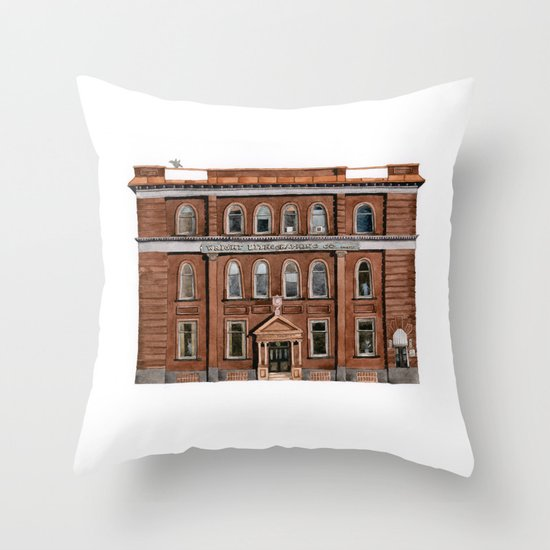 Wright Building Throw Pillow