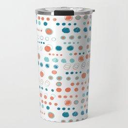 Turquoise blue polka dot circles Travel Mug