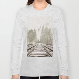 Railway in the forest Long Sleeve T-shirt