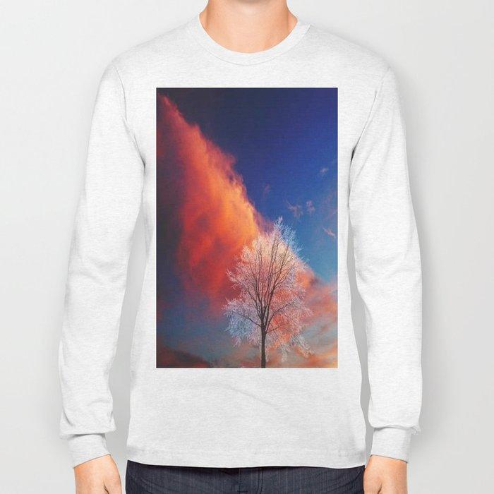 white tree Long Sleeve T-shirt