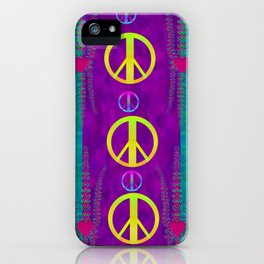 Peace be with us in this wonderful year in true love iPhone Case