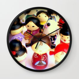 Kokeshi Dolls Wall Clock