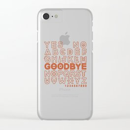 Plastic Bag Ouija Board Clear iPhone Case
