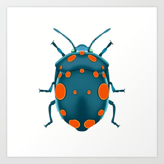 Physic Nut Stink Bug Art Print