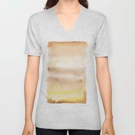 180815 Watercolor Rothko Inspired 2| Colorful Abstract | Modern Watercolor Art Unisex V-Neck