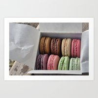 macaroons Art Prints featuring Macaroons  by Pri-Prianna