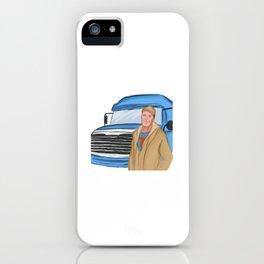 long-distance lorry driver truck driver freight forwarding logistics trucker iPhone Case