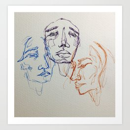 3's Art Print