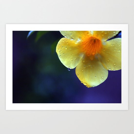 A drop of yellow Art Print